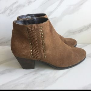 """FRANCO FORTINI """"Nicolette"""" Boho Brown Suede Boots"""